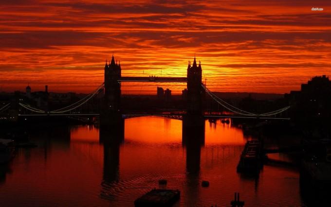 London Wallpapers HD sunset bridge