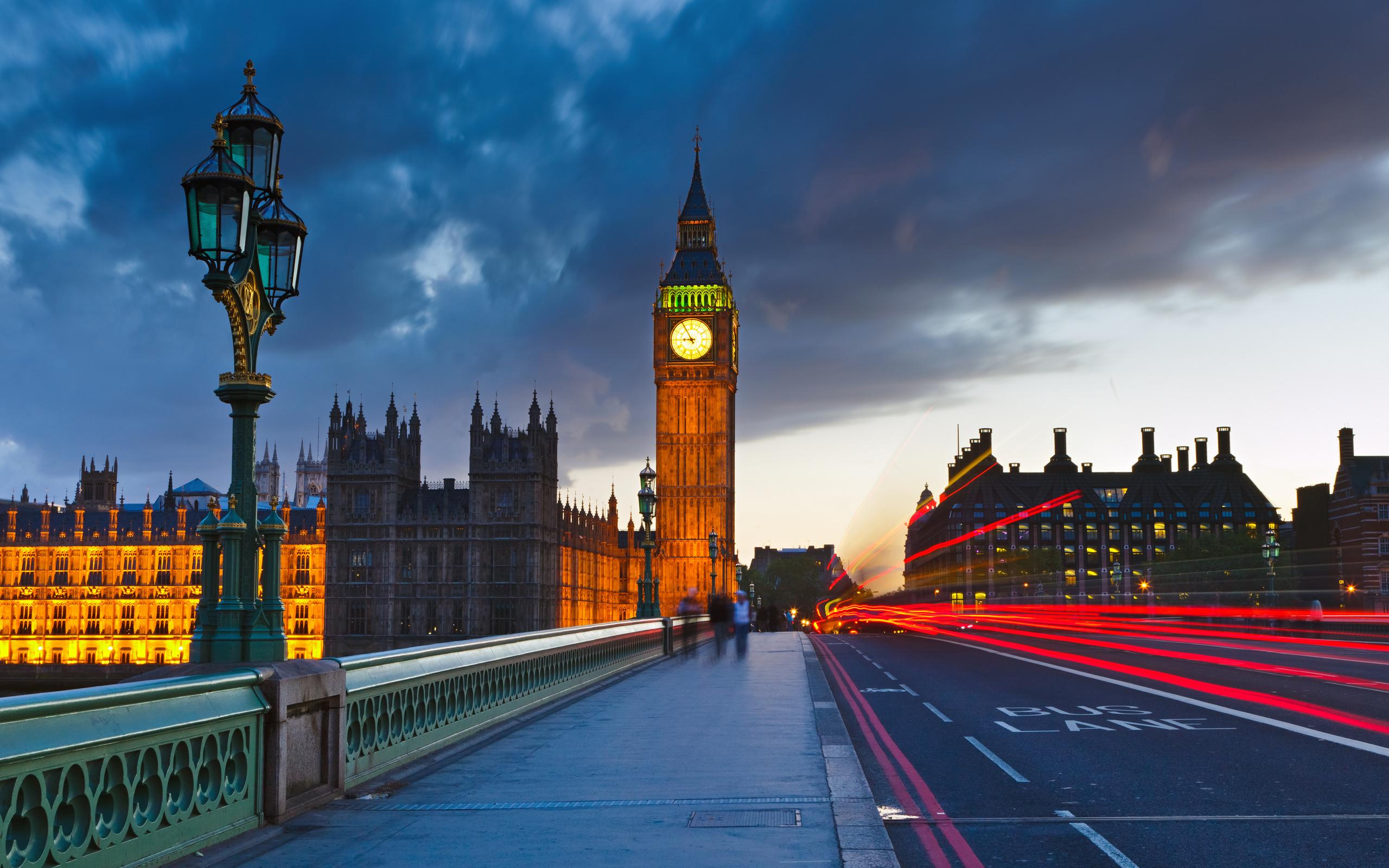London Wallpapers HD clock tower lights