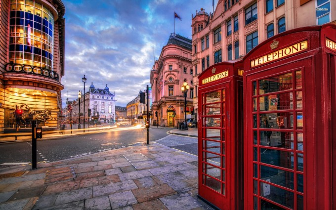 London Wallpapers HD telephone booth red