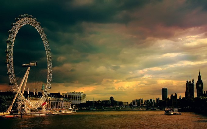 London Wallpapers HD vintage london eye