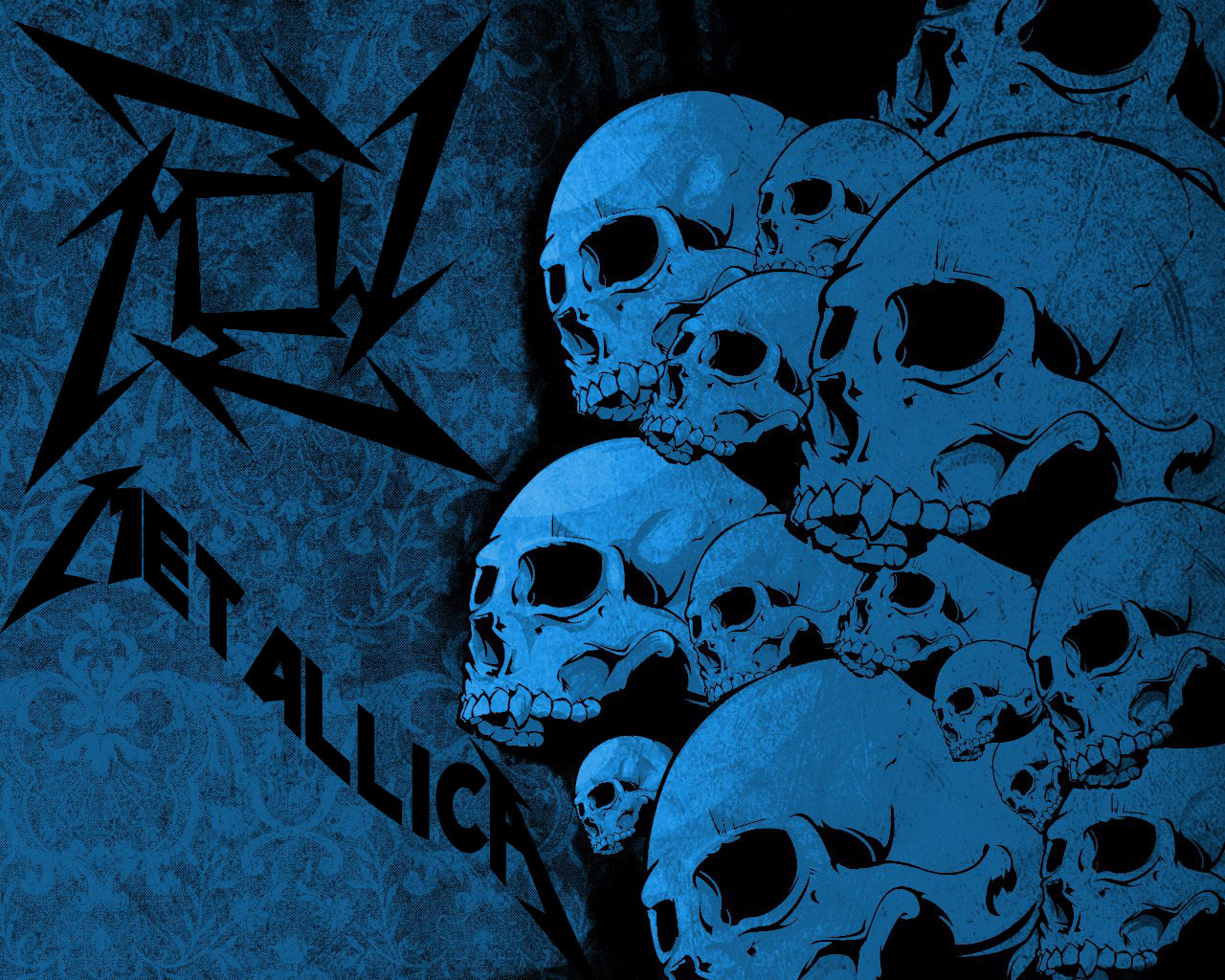 metallica wallpaper skull