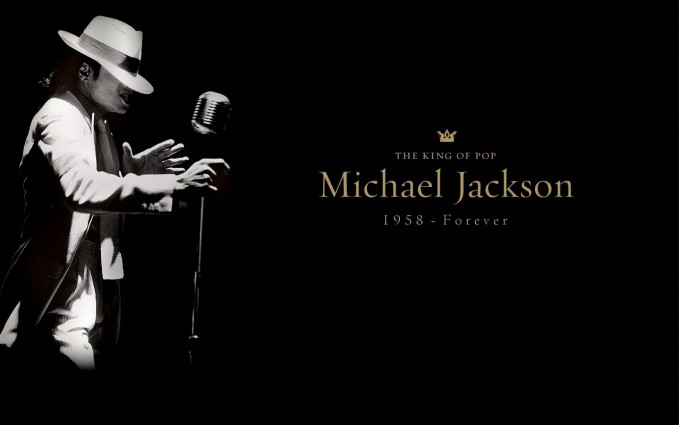 Michael Jackson Wallpapers HD golden font