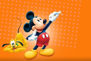 Mickey Mouse Wallpapers orange background