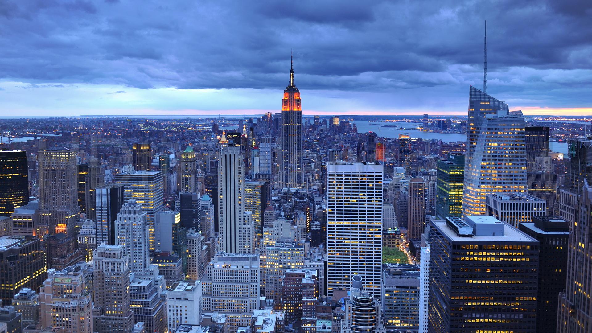 Free New York City USA America skyline HD Desktop wallpapers backgrounds wall murals downloads A12