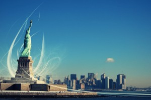 Free New York City Statue of Liberty USA America HD Desktop wallpapers backgrounds wall murals downloads A18
