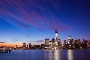 Free New York City Skyline Night Life lights USA America HD Desktop wallpapers backgrounds wall murals downloads A20