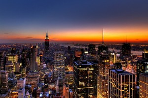 Free New York City Skyline Night Life lights USA America HD Desktop background wallpapers wall murals downloads A24