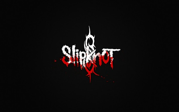 Slipknot Wallpapers HD  logo in white and red