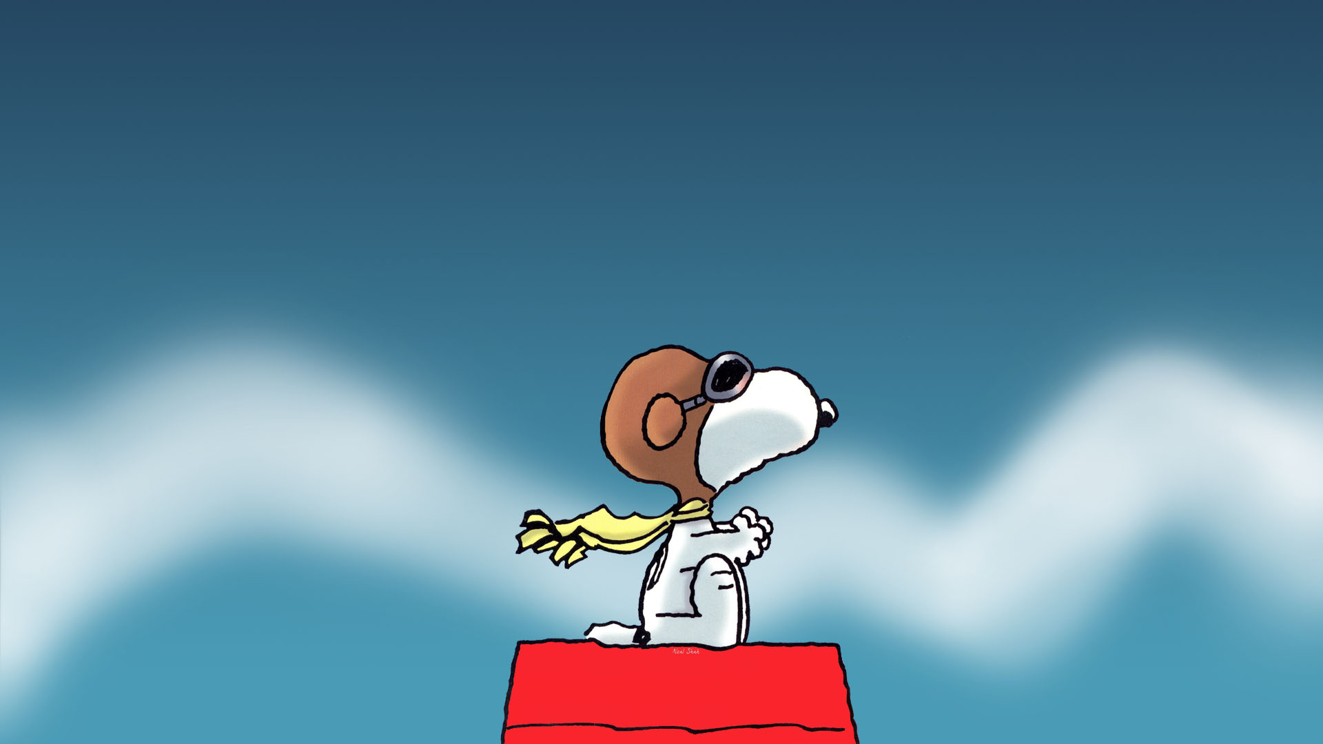 Snoopy Wallpapers HD yellow scarf