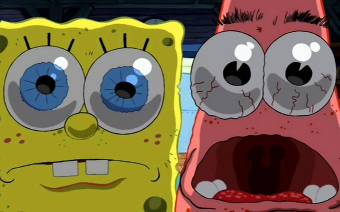 SpongeBob SquarePants wallpapers HD frightened