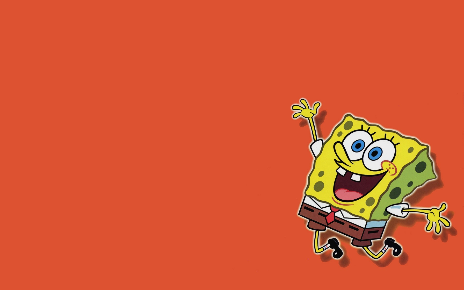 SpongeBob SquarePants wallpapers HD orange background