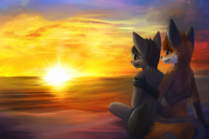 Romantic Sunset Wallpapers HD cartoon