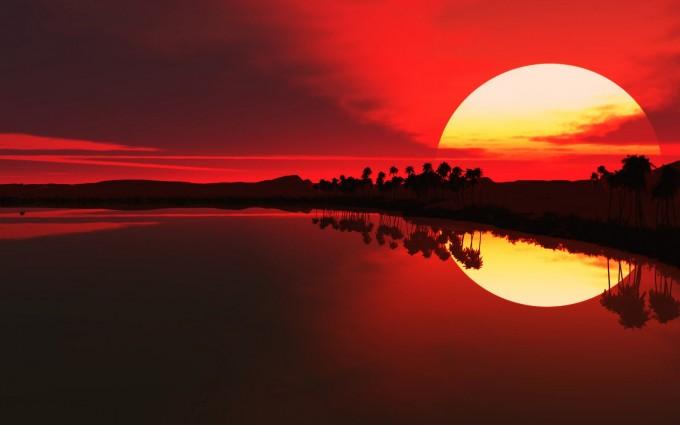 desktop background sunset
