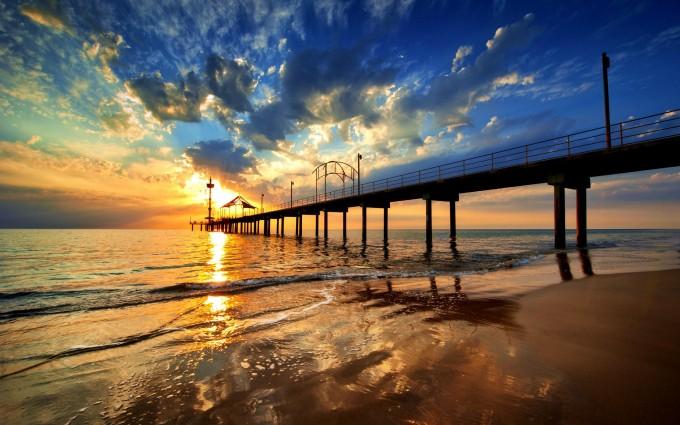 Sunset Wallpapers HD bridge