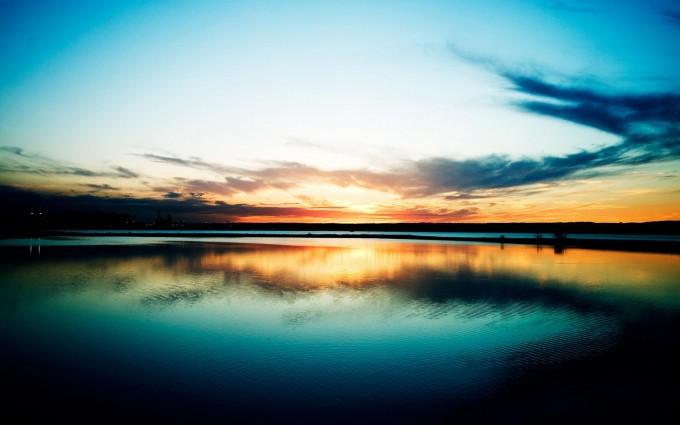 Sunset Wallpapers HD lake