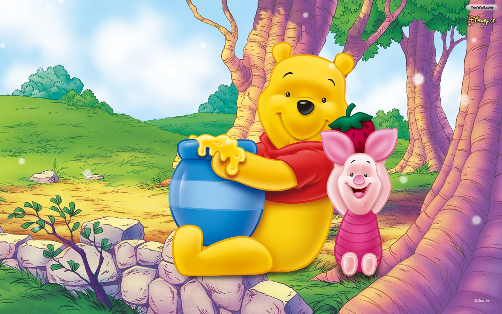 Winnie The Pooh Wallpapers HD strawberry