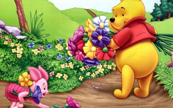 Winnie The Pooh Wallpapers HD flowers