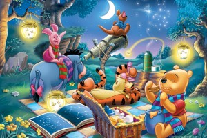 Winnie The Pooh Wallpapers HD night picnic stars
