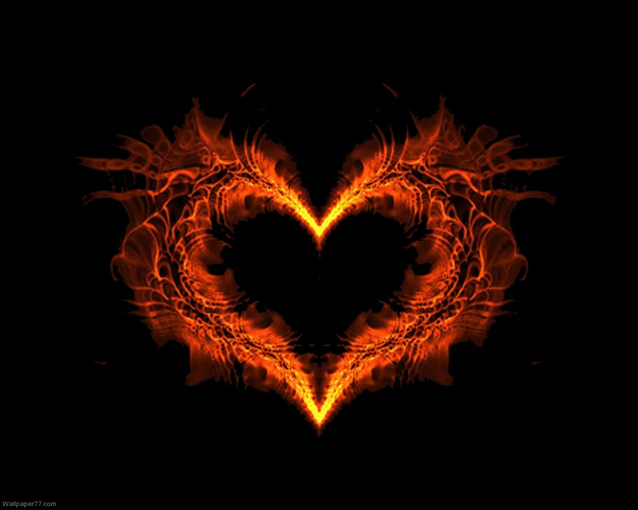 burning heart wallpapers
