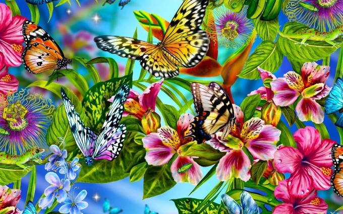 butterfly wallpaper colorful