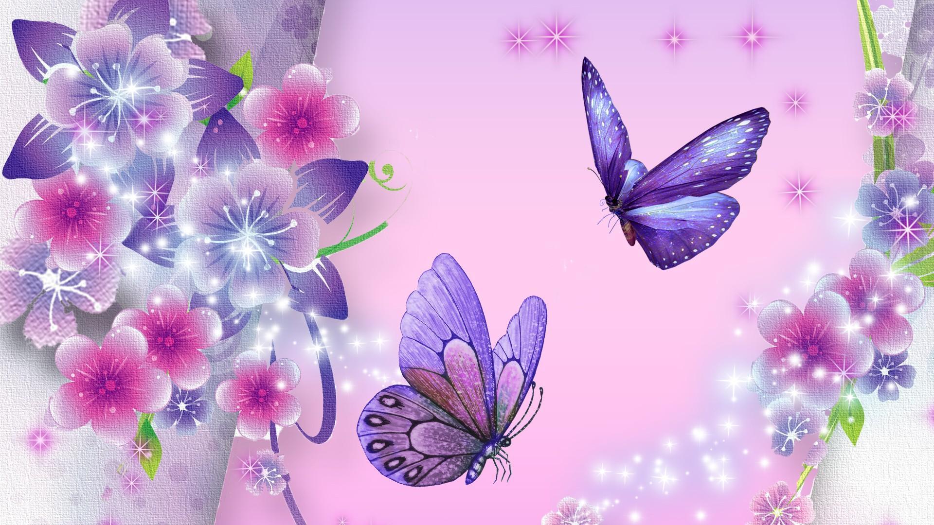butterfly wallpaper purple star