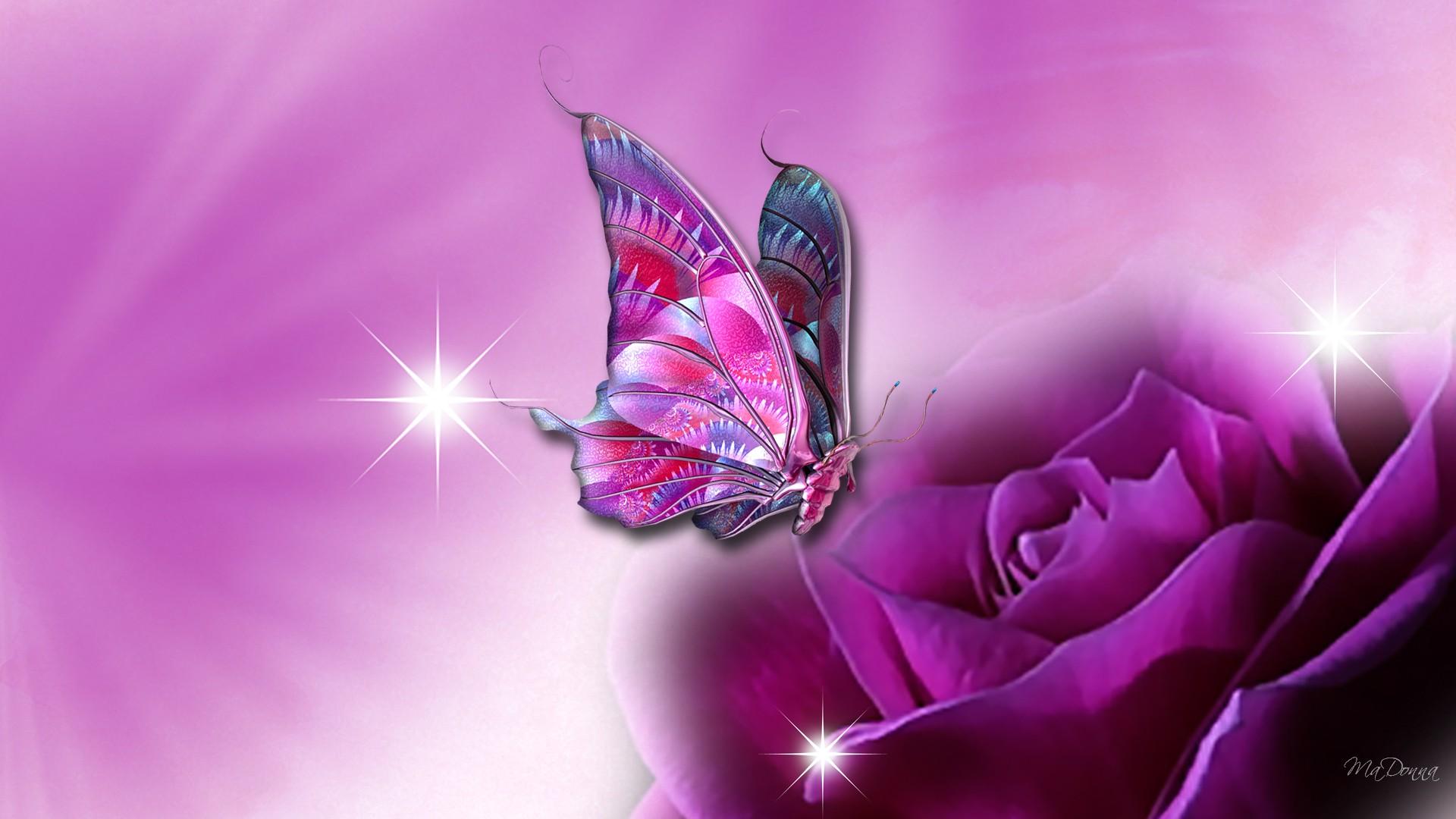 butterfly wallpaper purple