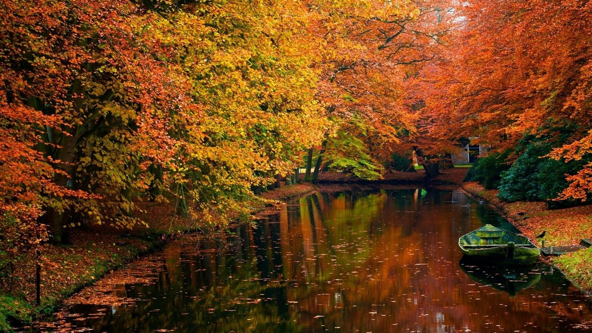 fall wallpapers boat Autumn