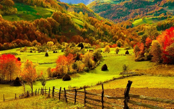 fall wallpapers farm Autumn
