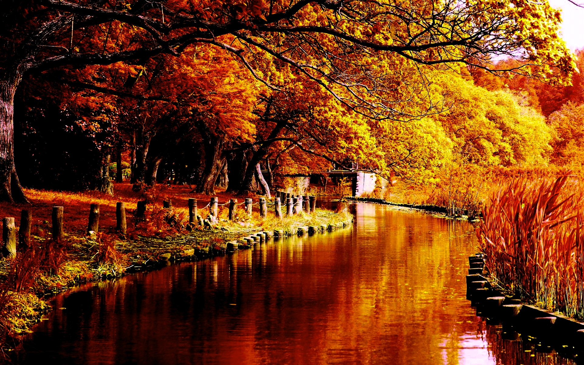 fall wallpapers river Autumn