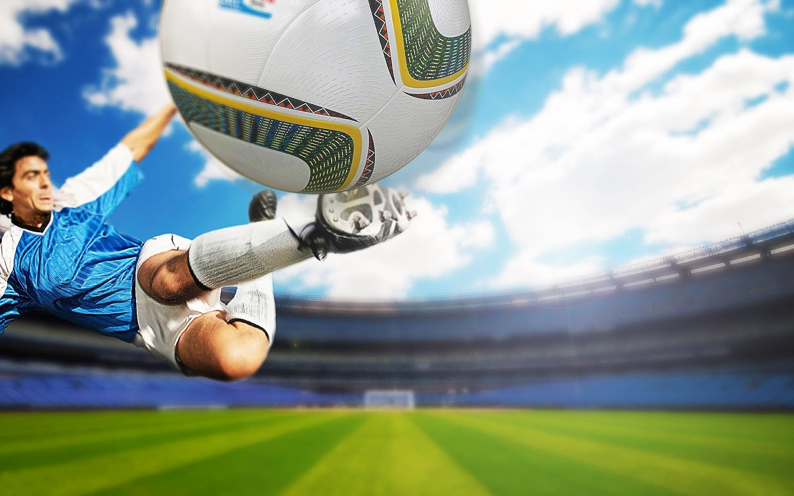 football wallpaper shooting HD