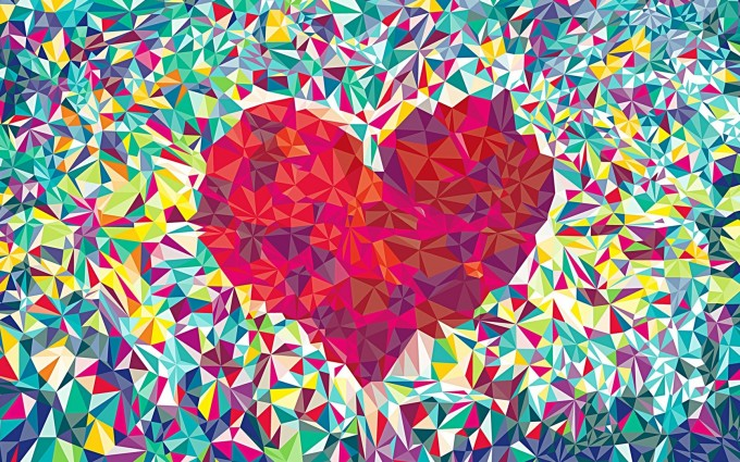 heart wallpapers crystal