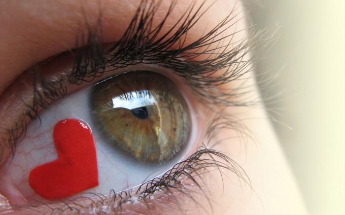 heart wallpapers eyes