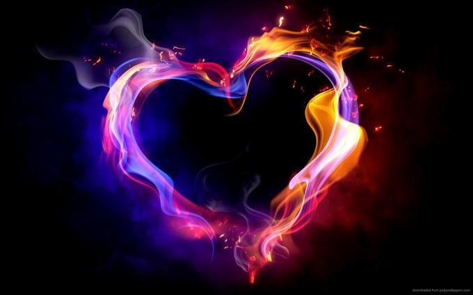 heart wallpapers fire