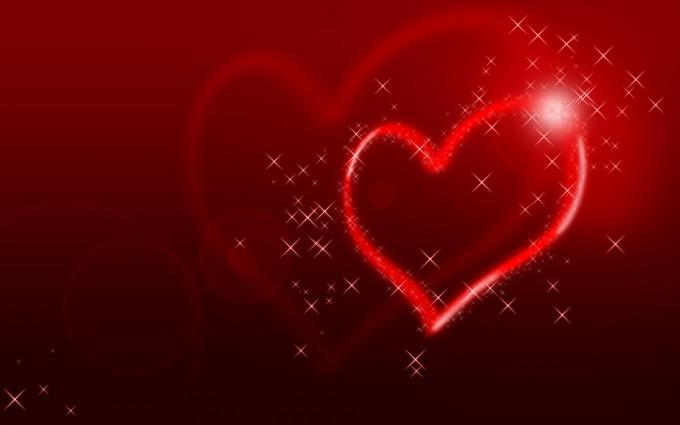 heart wallpapers glittering