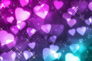 heart wallpapers glowing