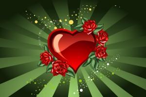 heart wallpapers green