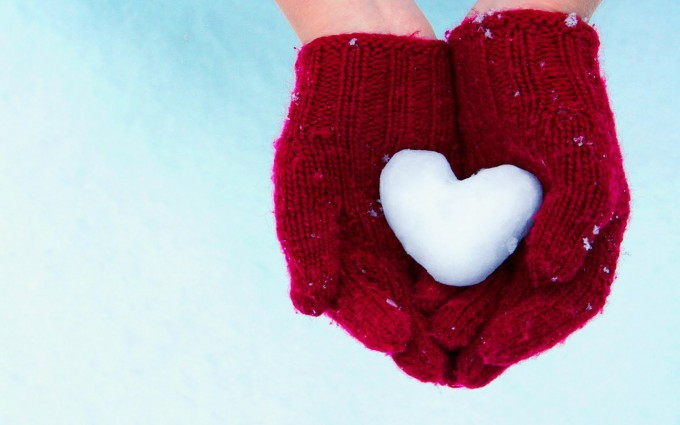 heart wallpapers ice