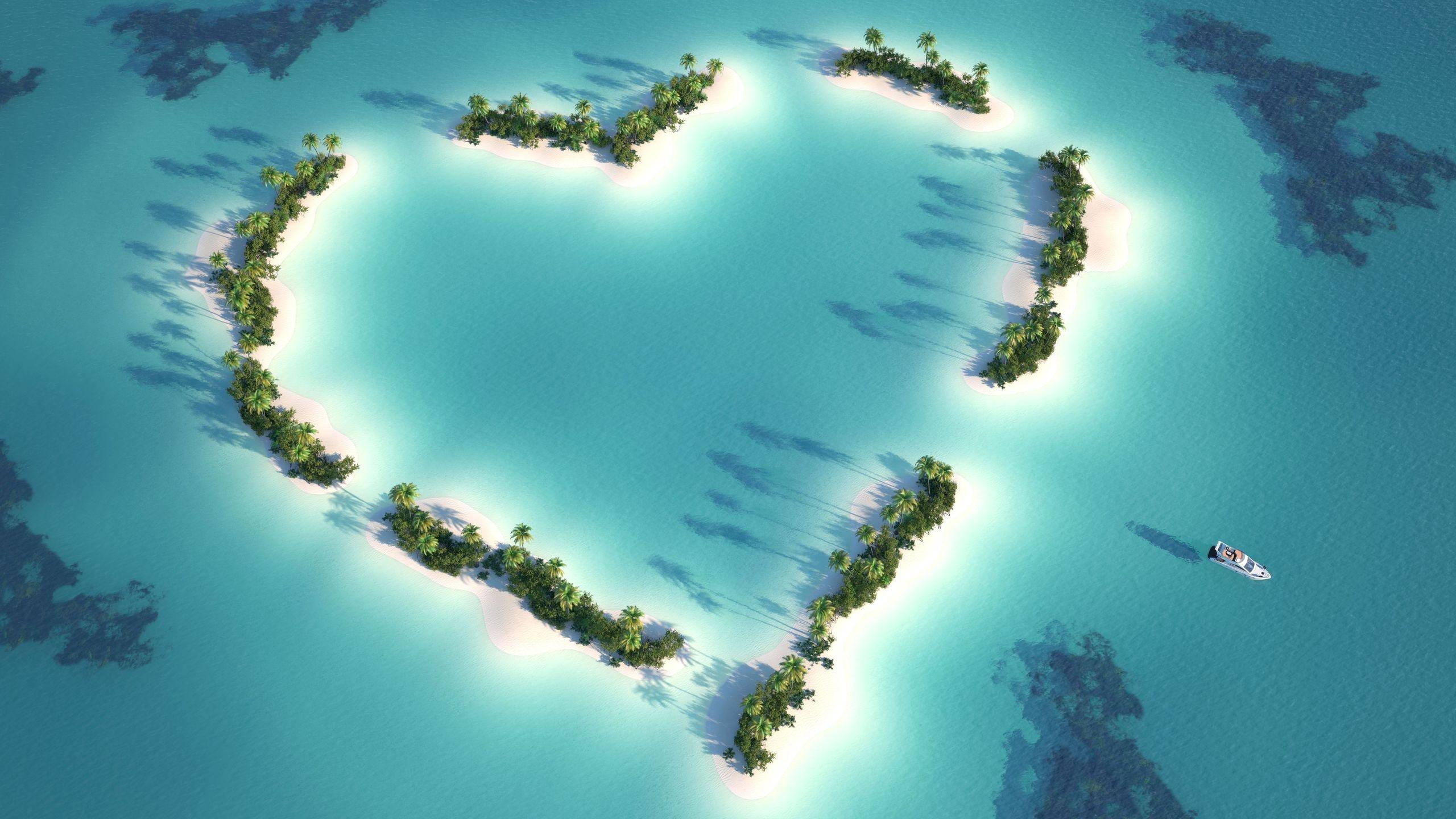 heart wallpapers island