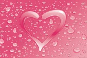 heart wallpapers pink drops