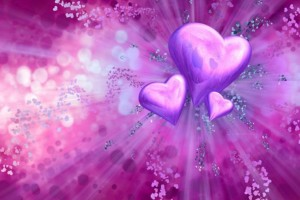 heart wallpapers purple