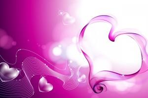heart wallpapers purple background