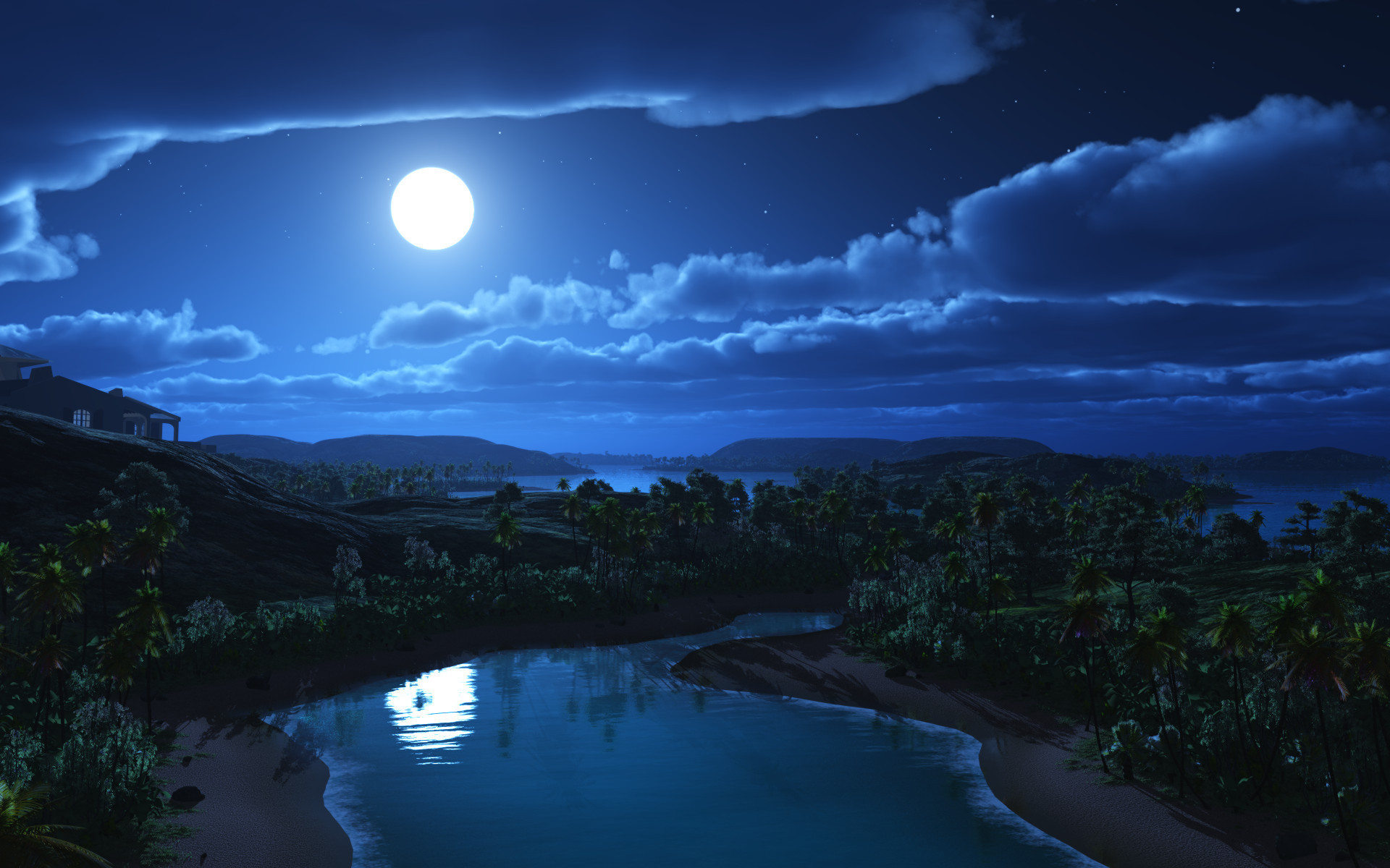 landscape wallpaper moon