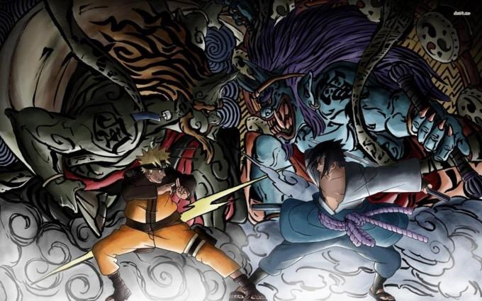 A5 Naruto anime Sasuke Sakura Kakashi HD Desktop background wallpapers downloads