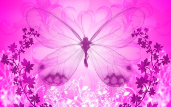 pink butterfly wallpaper