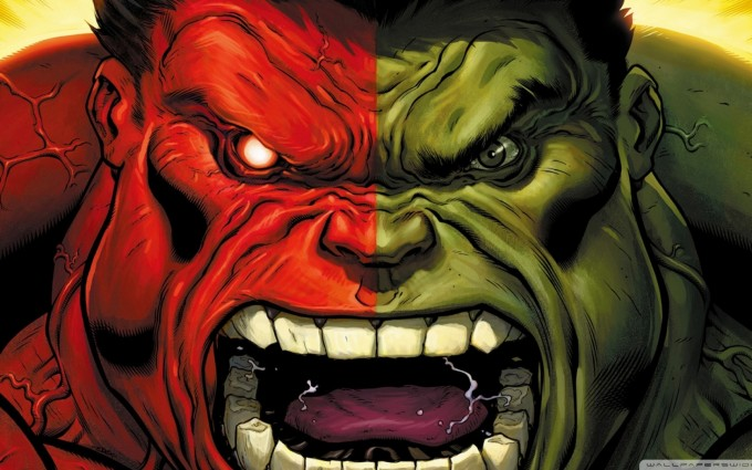 red hulk wallpaper