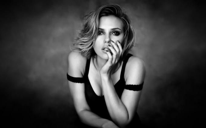 scarlett johansson wallpapers HD black top dress