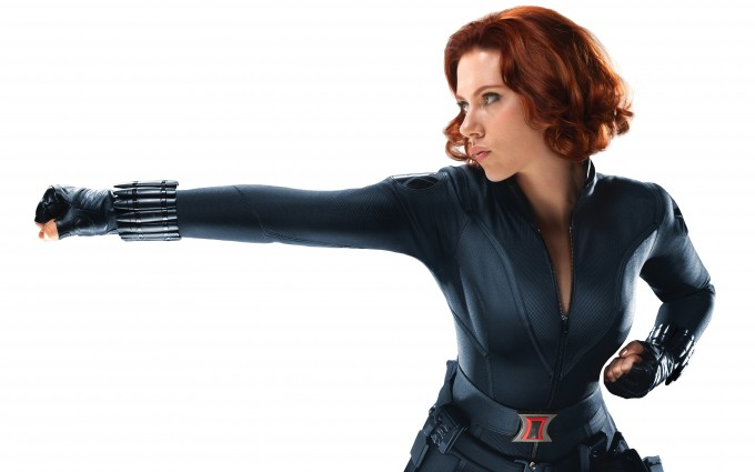 scarlett johansson wallpapers HD avengers punch