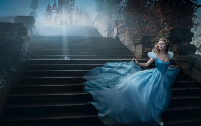 scarlett johansson wallpapers HD princess blue dress