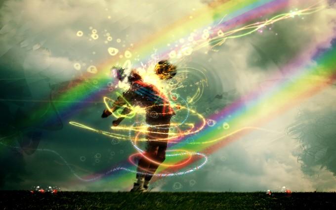 soccer wallpaper rainbow