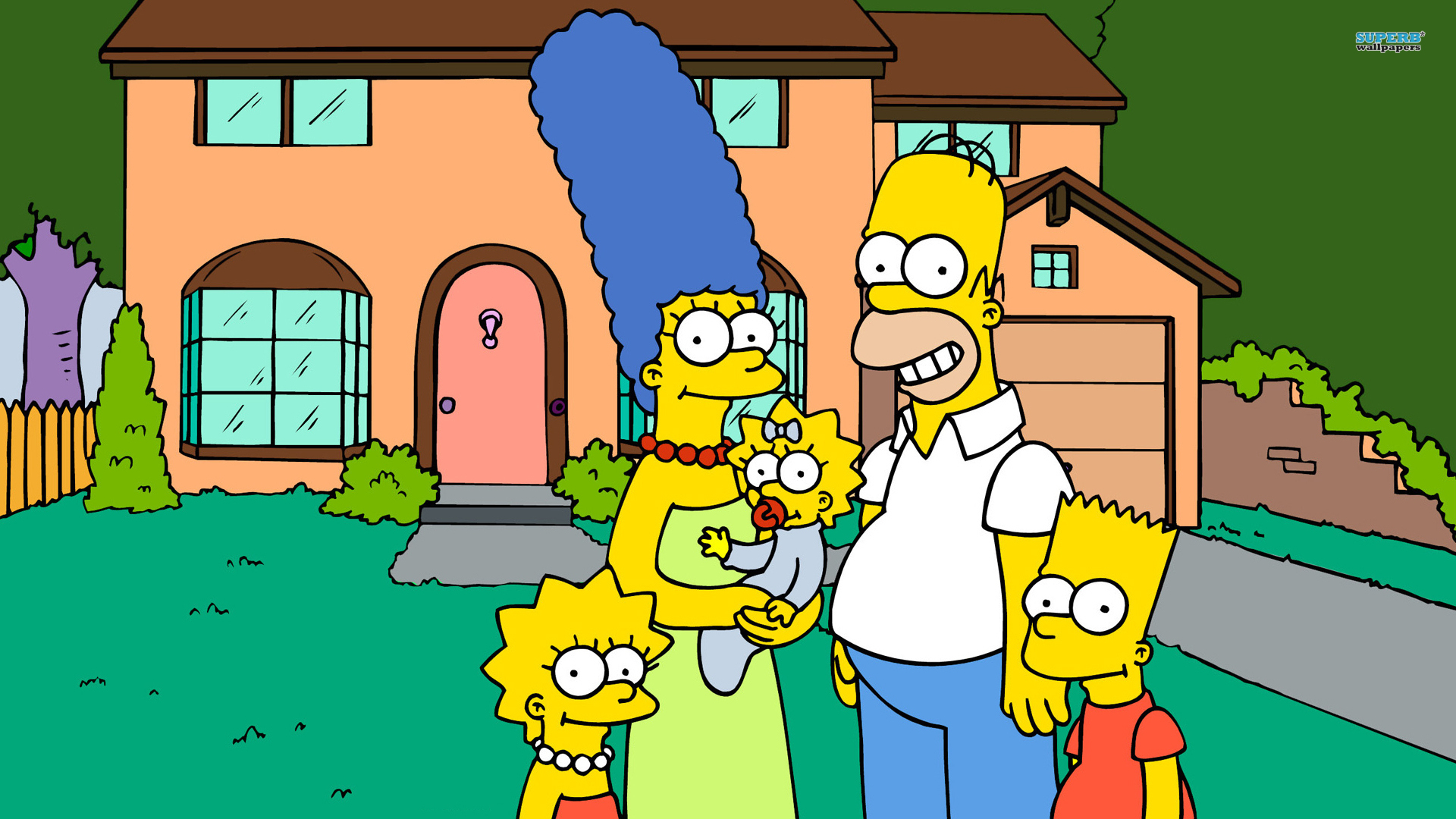 the simpsons wallpaper family